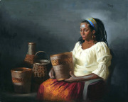 Lady with Baskets
